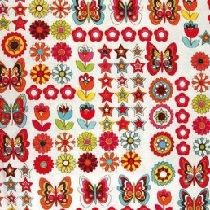Portable Fabric Schedule - butterflies and flowers