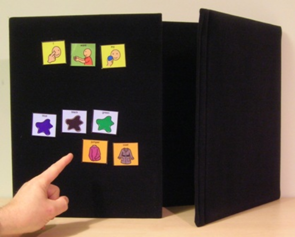 Abilityboard: Portable Tri-fold Choice Board / Display Board A2 Landscape