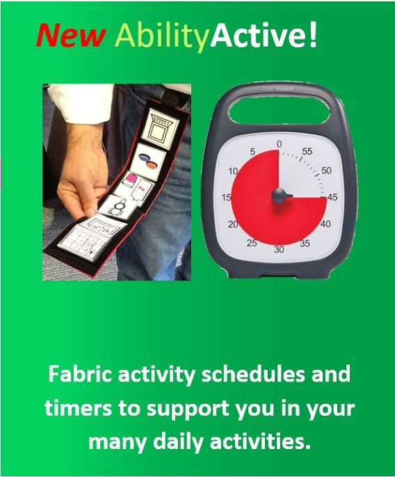 Ability World portable activity fabric schedules and Time Timers