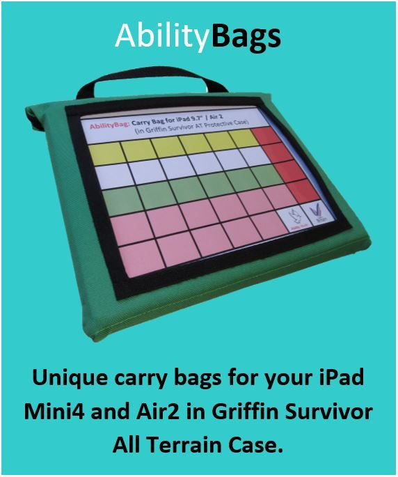 Ability World iPad carry bags