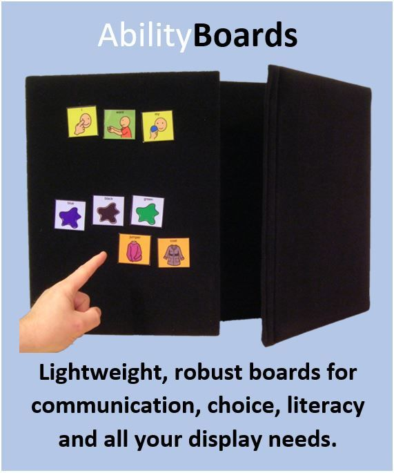 Ability World portable display boards and choice boards