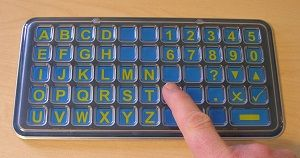 FAB Frenchay Alphabet Board pocket size matrix ABC layout from Ability World