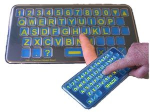 FAB Frenchay Alphabet Board Qwerty Pocket and Tabletop sizes from Ability World