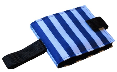 Ability World Portable communication book blue stripes