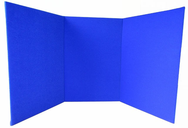 Ability World Portable Display Board - Tri-fold A2 Portrait - Blue