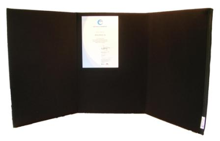Ability World Portable Display Board - Tri-fold A2 Portrait - Black