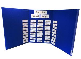 Portable Display Board as a Portable Word Wall