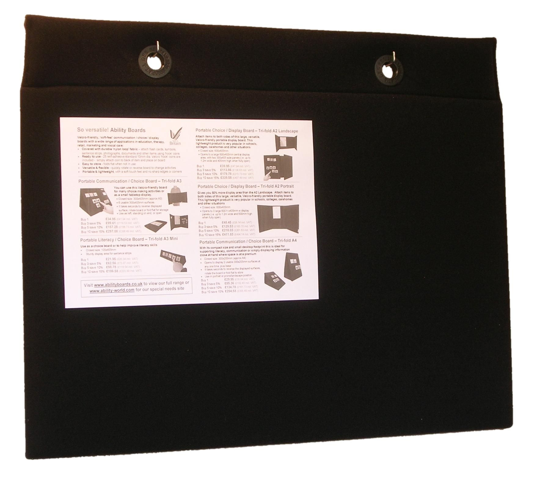 Two-sided Portable Choice / Display Board - Wall-mountable