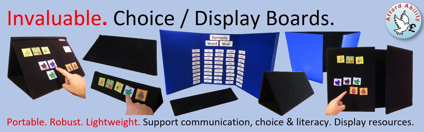 Ability World portable choice and display boards